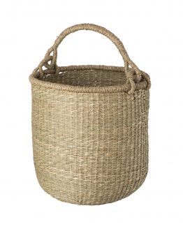 Basket w/ Handle Seagrass