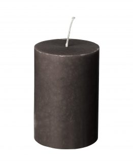 Block Candle 7x10cm Light Grey