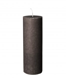 Block Candle 7x20cm Light Grey