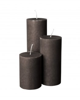 Block candle 7x15cm Light Grey