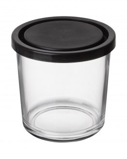Glass Jar Black Lid 0,5L