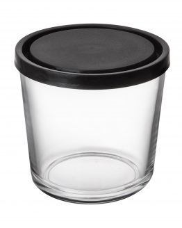 Glass Jar Black Lid 0,8L