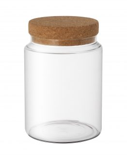 Glass Jar with Cork Lid Large