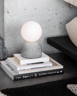 Table Lamp Cement/Opal