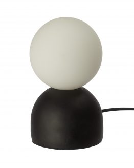 Table Lamp Cement/Opal Black