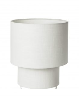 Table Lamp Linen Ø22x25 White