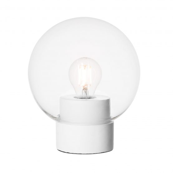 Table Lamp Round White/Clear