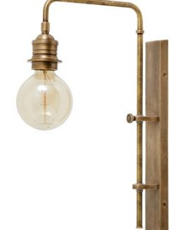 Wall lamp for deco bulb brass - Pieni