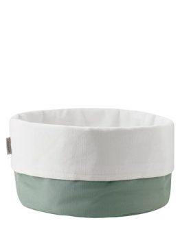 Bread bag, large - dusty green/white