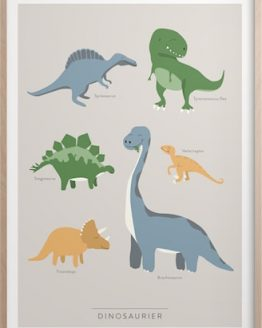 Dinosaurier Poster 50x70 cm