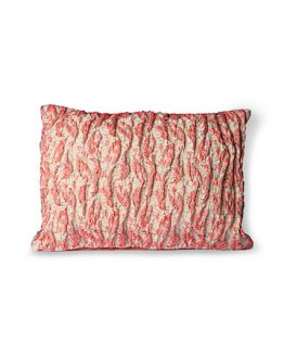 Floral Jacquard Weave Tyyny Red/Pink 40 x 30 cm
